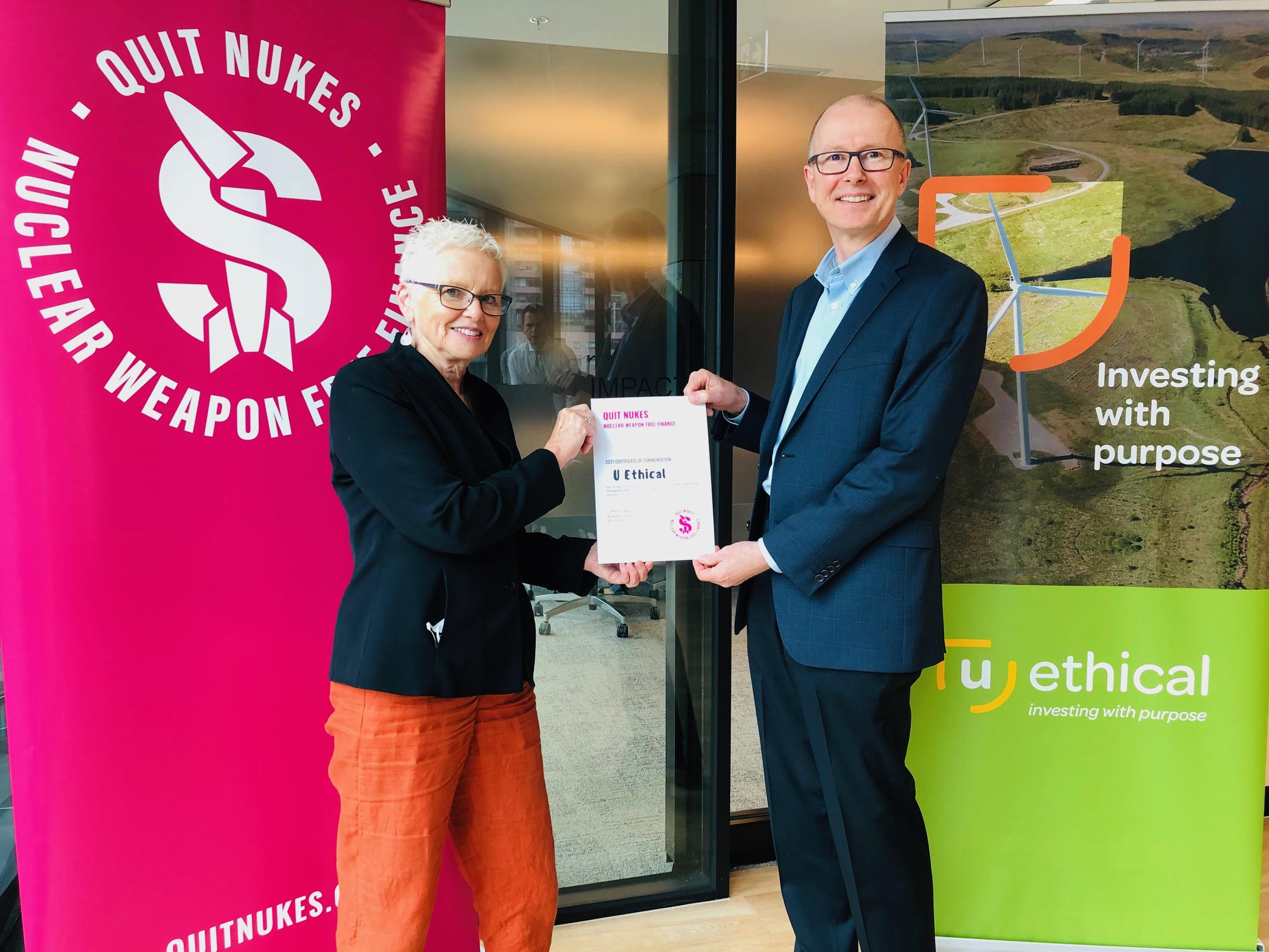 UEthical certificate handover March 2021
